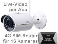 E 4G/LTE 3G/UMTS Mobilfunk-Überwachungskamera Set BW304 PP95