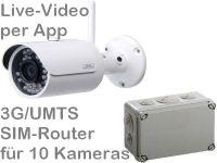 E 3G UMTS Mobilfunk-Baustellenkamera Set BW304 AK