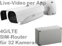 E 4G/LTE 3G/UMTS Baustellenkamera-Set SNC-441RBIAe AK328 PoE