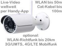 E Überwachungskamera WLAN bis 20km oder 4G/LTE