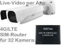 E 4G/LTE 3G/UMTS Mobilfunkkamera-Set SNC-441RBIAe PoE PP95