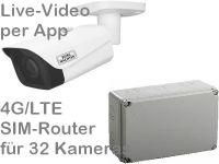 E 4G LTE Mobilfunk-Baustellenkamera-Set SNC441FBIFe AK328 PoE