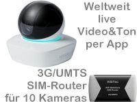 X 3G/UMTS Mobilfunk-Stallkamera Set DA3010