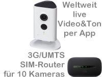E 3G/UMTS Mobilfunk-Stallkamera Set DA3010 PP65