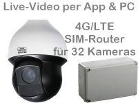 E 4G/LTE 3G/UMTS Baustellenkamera-Set SNC241RSIA AK328 PoE