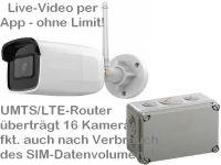 E 4G/LTE 3G/UMTS Mobilfunk-Baustellenkamera HK304 AK162-230