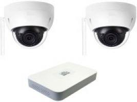 260.10 Kabellos per WLAN-Funk: SANTEC IP-Überwachungskamera Komplet-Set mit 2 Stk. Netzwerk-Domekamera 1080p LAN/WLAN, Netzwerk-Video-Rekorder mit 1000GB, Smartphone-App für iPhone, Android