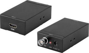 163.08 EuroTECH Konverter/Übertrager HDMI over Koax bis 100m (Medienkonverter, Wandler, Extender)