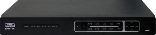 SANTEC SPVR-4411I HD Penta-Brid Digital-Videorekorder 4+4(8) Kanal, 4x (HD-CVI, AHD, TVI, FBAS) + 4x IP oder 8x nur IP, H.265