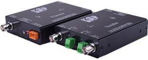 221.82 VCvision VC11311 Einkabel Koax-Übertragungs-System für 2 Videosignale (FBAS analog composite, AHD, TVI, CVI) inkl. Strom bis 500m